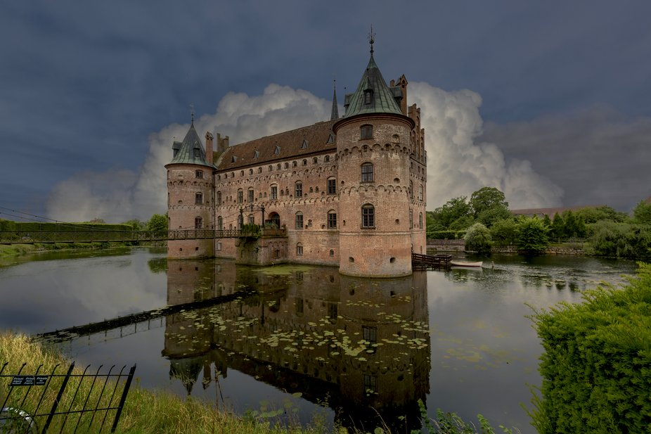 A composite photo made from a photo of the castle where I have changed the sky in Photoshop CC