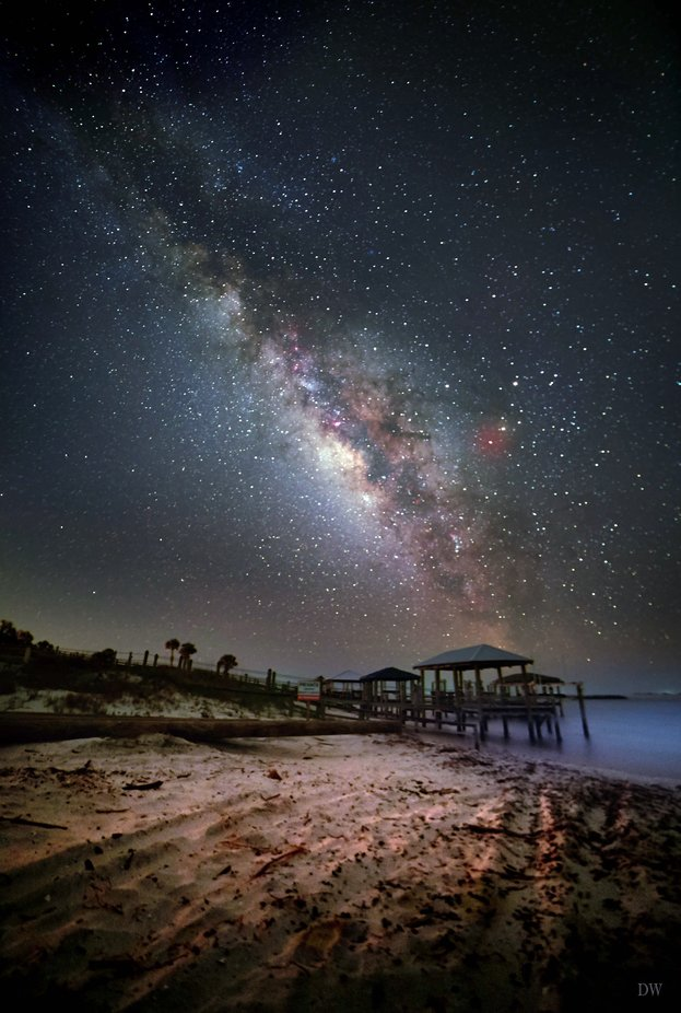 Milky way over St.George Island by davewoolsteen - Image Of The Month Photo Contest Vol 42