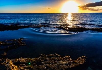 Ko'Olina Tide Pool sunset with @steadsok @sjirok and @trevorbarzee