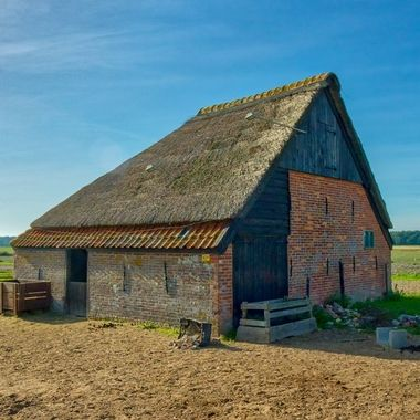 Typical barn, called a boed, special to the isle of Texel, Holland