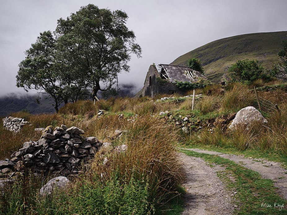 An old derelict cottage in the Black Valley, Co. Kerry, Ireland