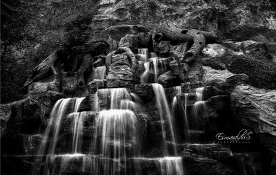 Waterfall in b-w