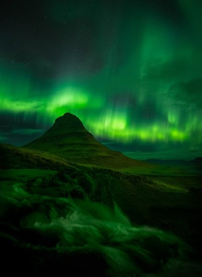 Amazing Northern lights over Kirkjuefel taken last October during a workshop in Iceland.