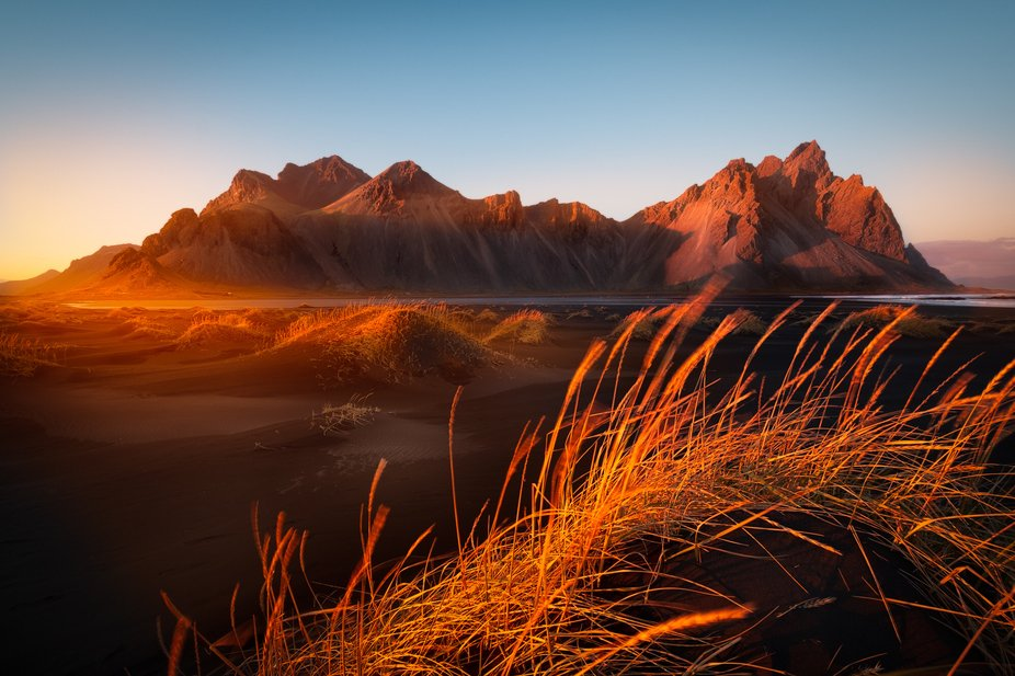 Sunset over Vestrahorn