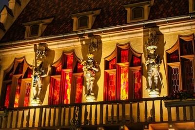 Nighttime Statues