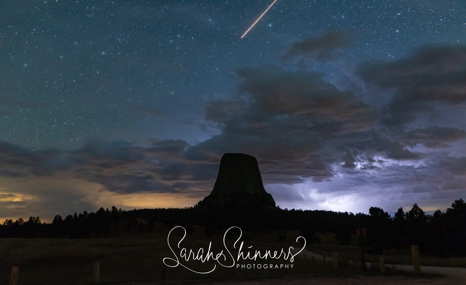 Lightning at Devil's Tower