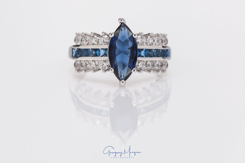 Blue stone with diamonds