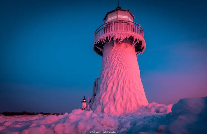 Frozen Lighthouse  by abeardedshooter - We Love The Winter Photo Contest