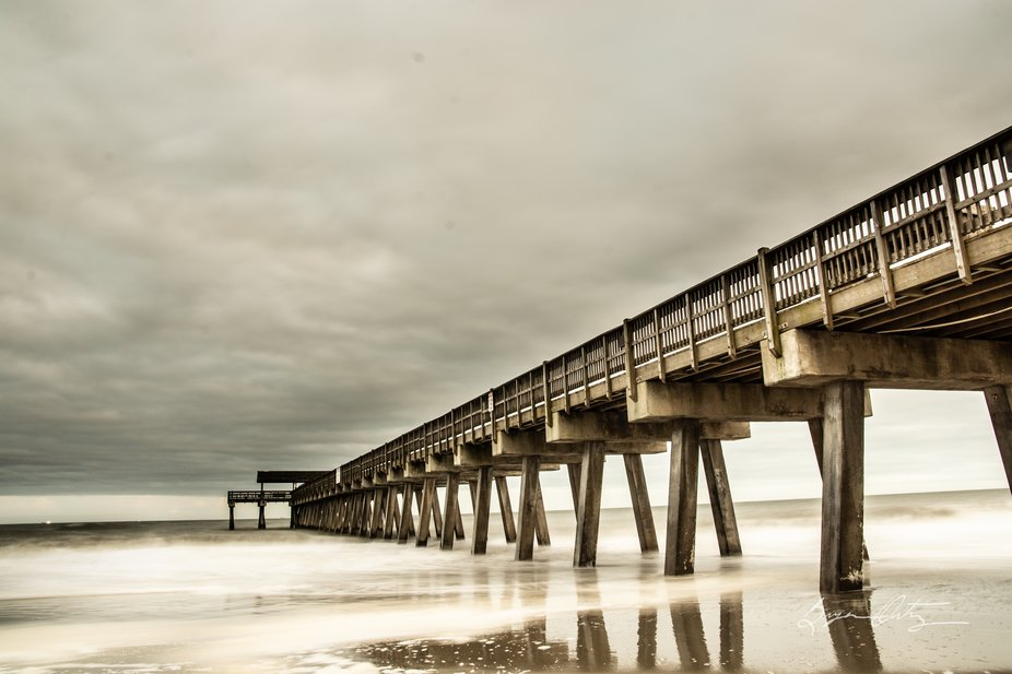 Tybee Island GA East pier. Ocean was quite hectic, but it was a gorgeous sight!