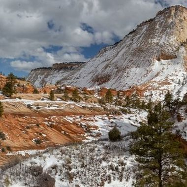 Upper east side of Zion National Park.  This photo was stitched together from 3 separate shots.