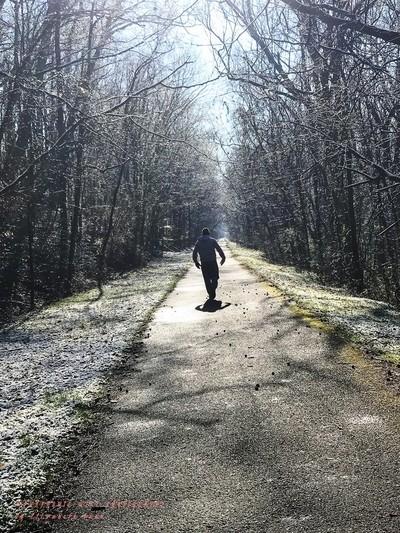 One Walking Human