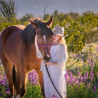 This child loves her horse deeply.  I was so pleased to capture this hug.