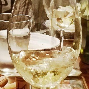 Versare il vino bianco