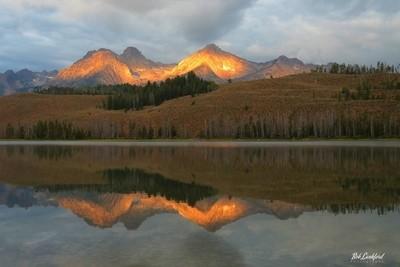 Sunrise over the  Sawtooth Mts.