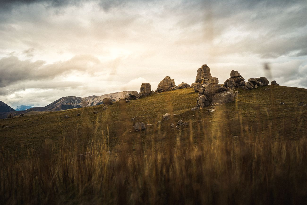 The magic site of Castle Hill in New Zealand looks like an ancient cult place.