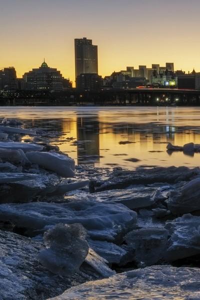 Winter Skyline in Albany NY