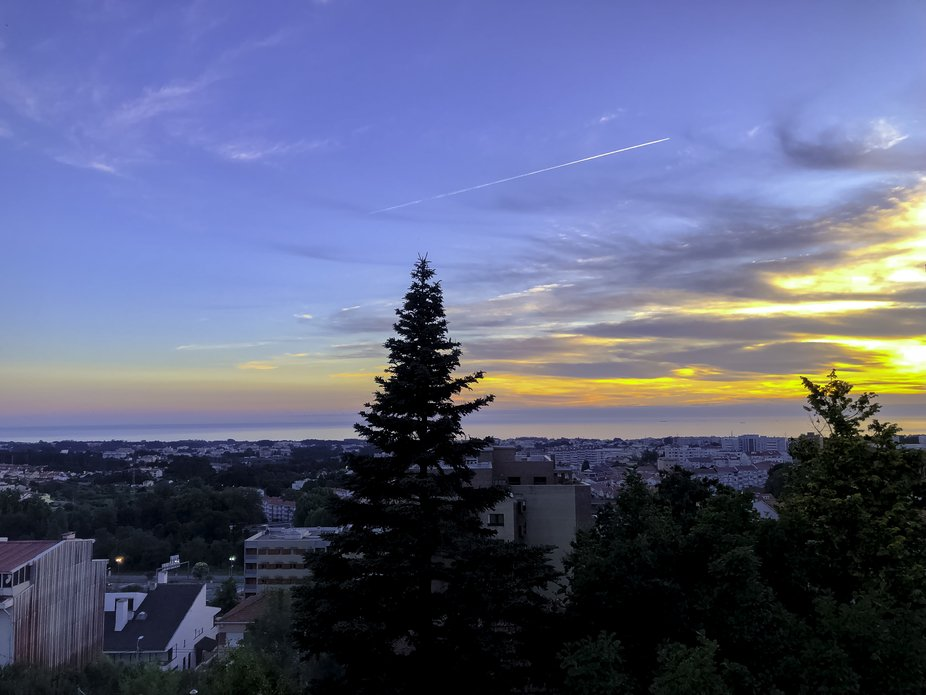 This was a sunset shot taken from my apartment in Vila Nova de Gaia on a summer evening.