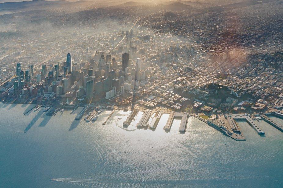 Aerial shot of San Francisco