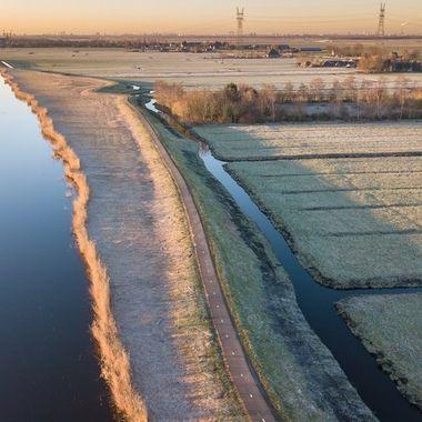 Oudelandsdijkje, Purmerend/Ilpendam, Holland, taken by drone.