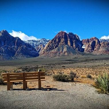 Snow in Red Rock Canyon National Conservation Area.