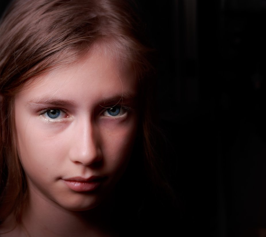 Rembrandt lighting with beauty dish not in studio