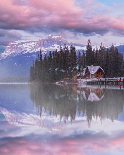 Cotton Candy skies above Emerald Lake lodge! Feeling a lot of gratitude and passion for working on images like this. Everyday is a blessing and a chance to live. . . . #Banff #explorecanada #explorebanff #roamtheplanet #socality #wonderful_places #nature