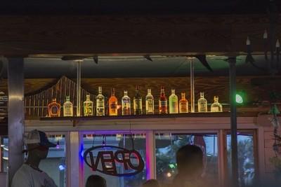 Bottles in a GA Bar