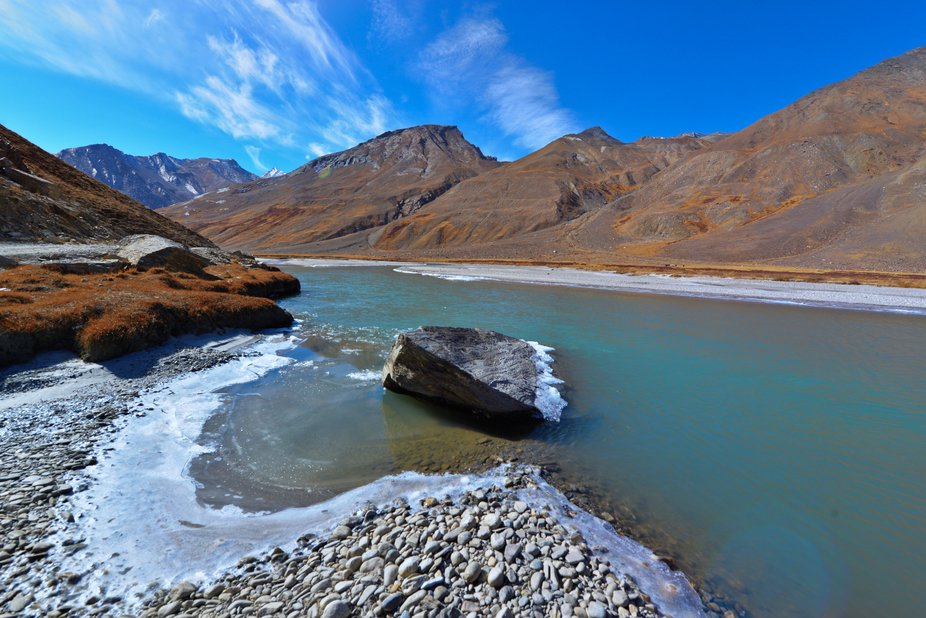 This shot was taken in Zanskar Valley in northern extremities of India right below the giant Hima...