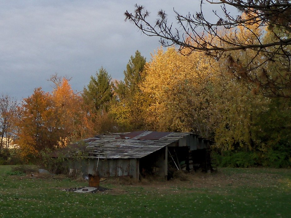 An Old Barn in the Fall