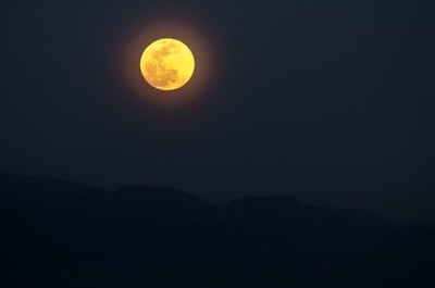 the supermoon viewed from the earth craters