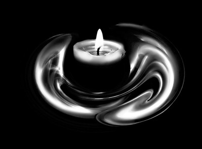 black and white smoke and candle