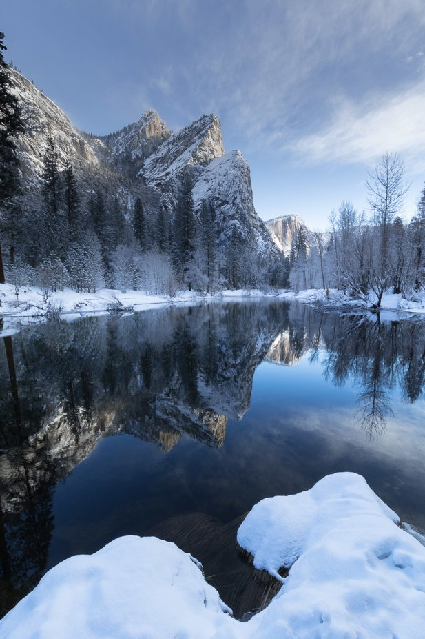 winter reflections by abrahamblackhorse - Image Of The Month Photo Contest Vol 42