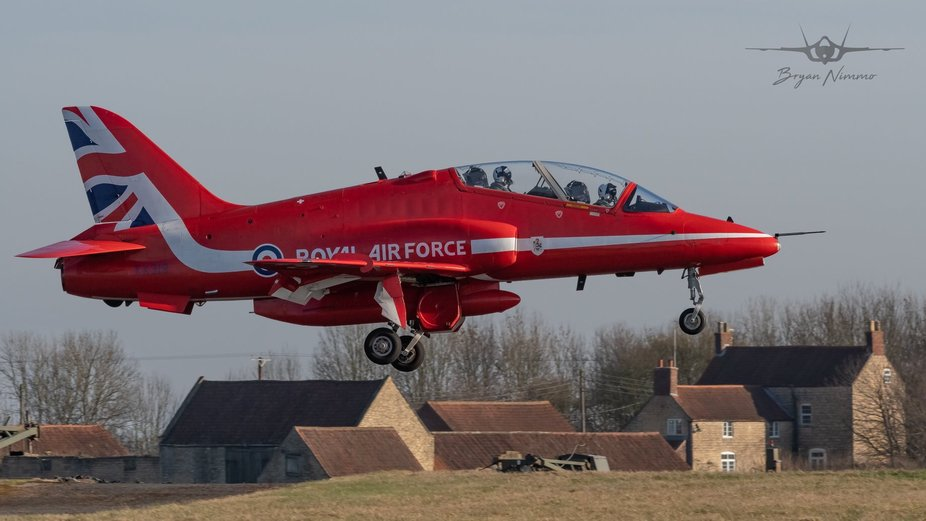 22/2/19 Back into land at Raf Scampton after a winter training sortie