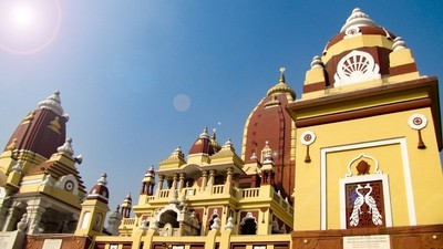 The Laxminarayan Temple, also known as the Birla Mandir is a Hindu temple up to large extent dedicated to Laxminarayan  which usually refers to Vishnu, Preserver in the Trimurti, also known as Narayan, when he is with his consort Lakshmi. The temple, inau