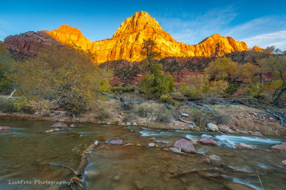 Sunset on Zion Canyons