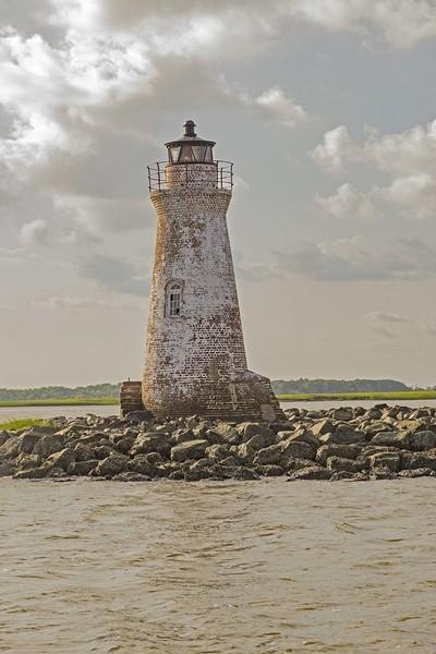 Lighthouse  off Bybee Island coast