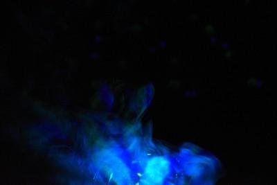 Smoke Over A Light Up Disco Ball #1