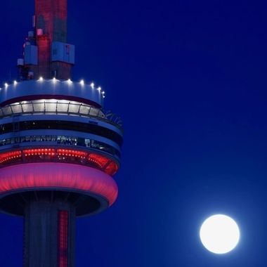 The Moon Rise and the CN Tower