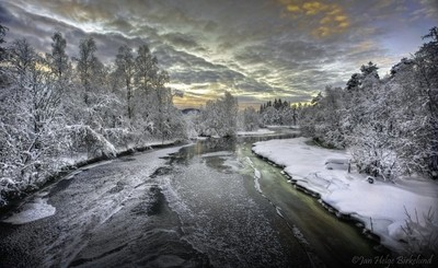 Winter by the river.