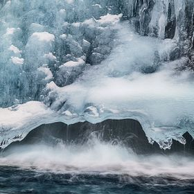 Section of frozen waterfall.  I was fascinated by the shapes and textures.