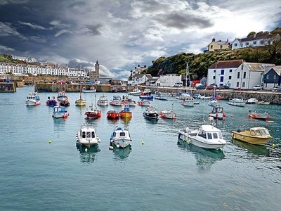Porthleven Harbour, Cornwall, England
