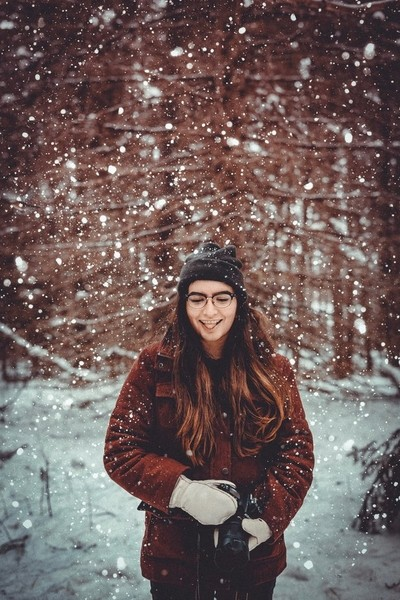 | Catching a snow flake |