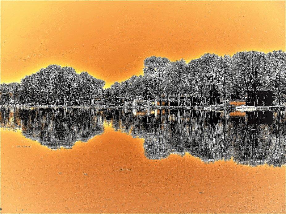shoreline of a fresh water lake has everything fishing swimming skiing boating