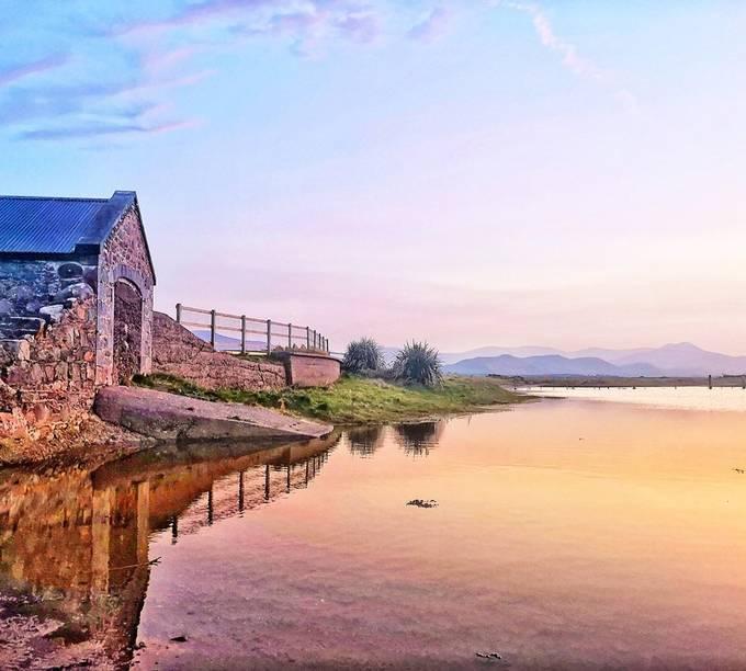 Beautiful evening in Ireland