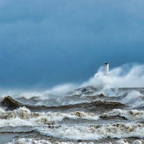 A windstorm batters the Lake Ontario Coastline