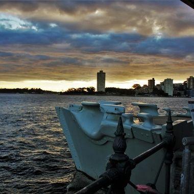 Sunset, Wharf & City