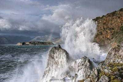 Rough seas in Praia a Mare