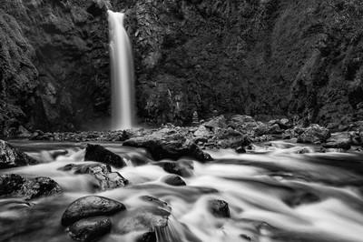 Big waterfall near Batad in North Luzon, Philippines