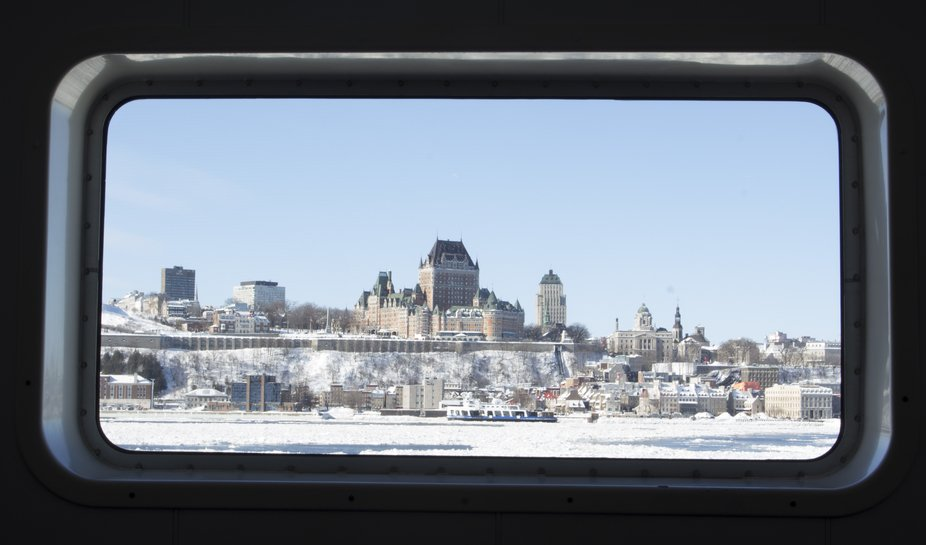 The Fairmont Châteaux Frontenac in Quebec City. Taken from the ferry on the Levis side of the ri...