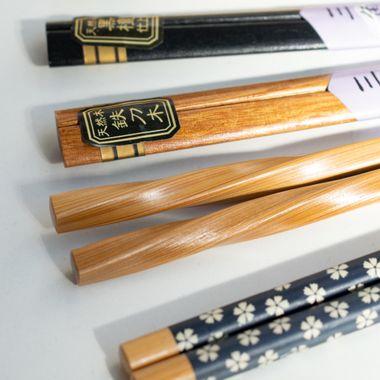 a close up shot of a selection of chopsticks designs